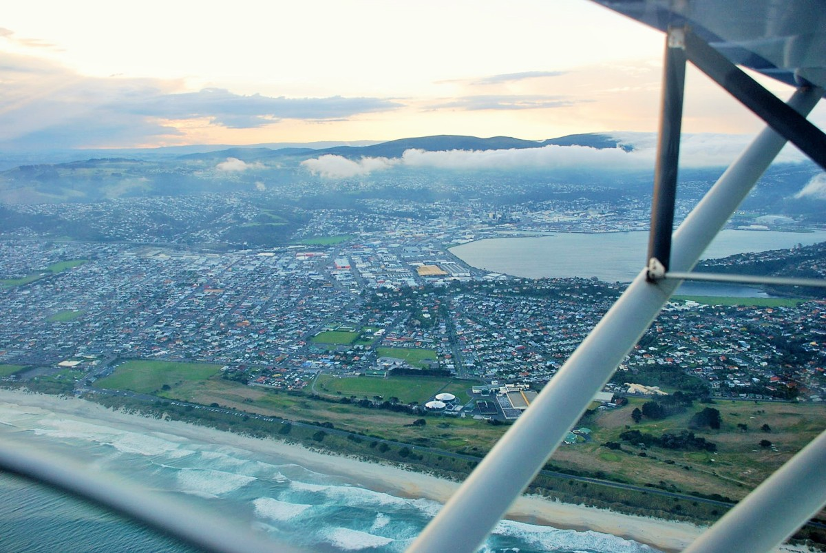 Dunedin City from the air